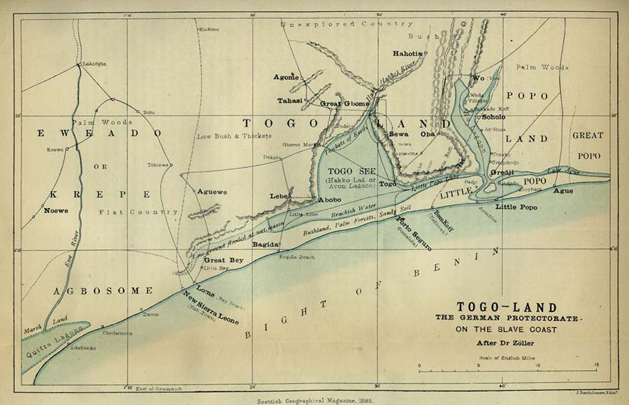 A Map of Togoland in 1885
